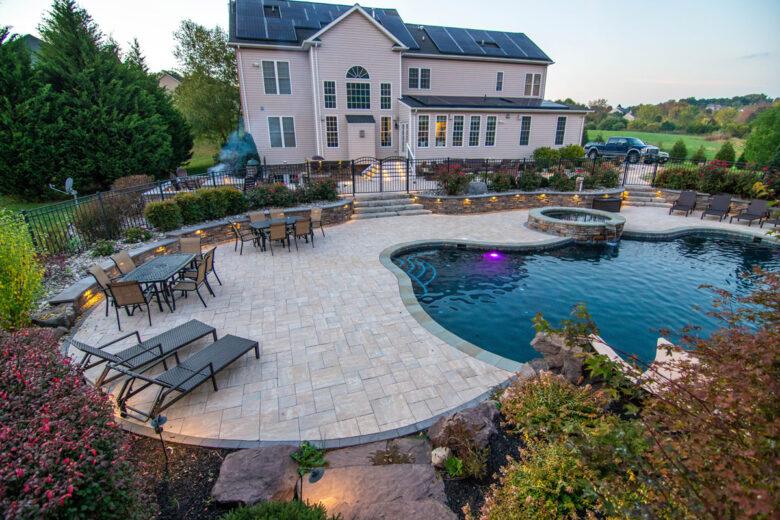pool patio design pool deck design in