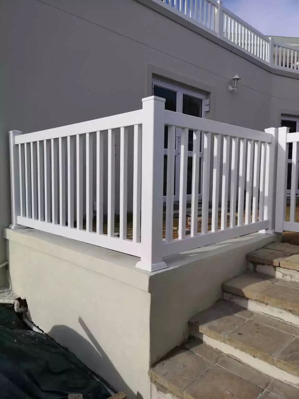 Pvc Balustrade Fencing Absolut Fencing   Pvc Balustrades And Handrails   Stair Railing   Hospital Corridor   Cable Railing Systems   Balcony Railing   Nsto