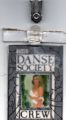 Danse Society backstage pass
