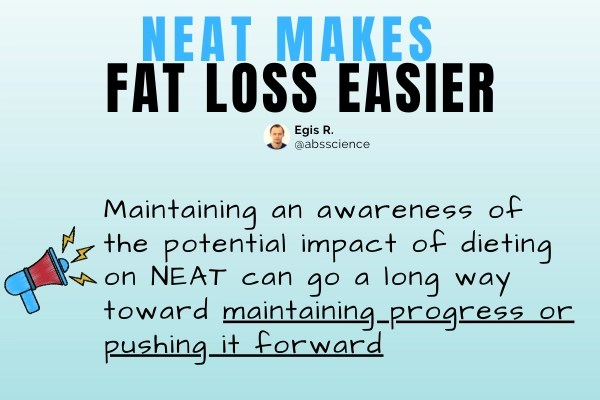 This is the picture which shows the importance of NEAT for fat loss