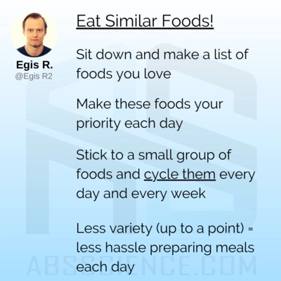 this is the picture showing the eight habit required to lose 20 pounds - plan meals in advance