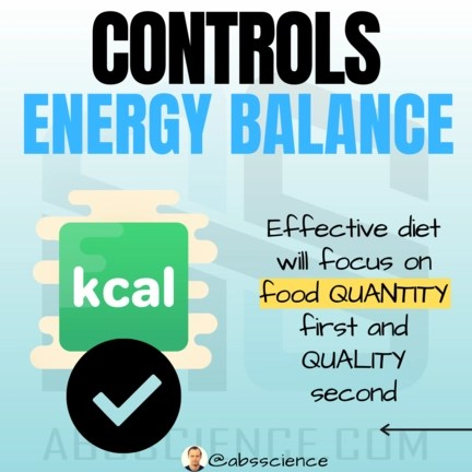 This is the picture of the second staple for effective nutrition for weight loss - energy balance