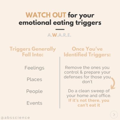 this picture shows the second step to stop emotional eating - WATCH OUT For Emotional Eating Triggers