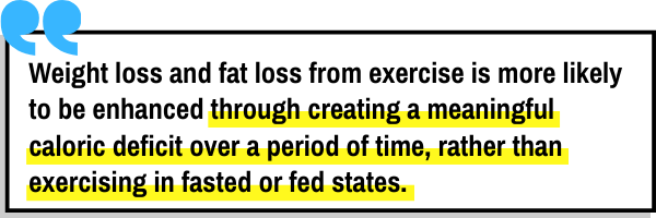 This is the picture of the second study that looks into fasted cardio versus fed state cardio for fat loss and its conclusion