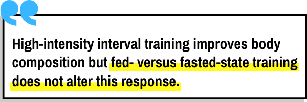 This is the picture of the third study that looks into fasted cardio versus fed state cardio for fat loss