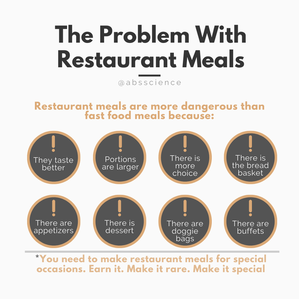 Restaurant meals are more dangerous than eating at McDonald's. Unlike restaurants where you could eat until you get an invitation to a vomiting party, you can't handle too many fast-food meals. This and 7 additional nutrition tips will help you to achieve healthy weight loss faster and easier.