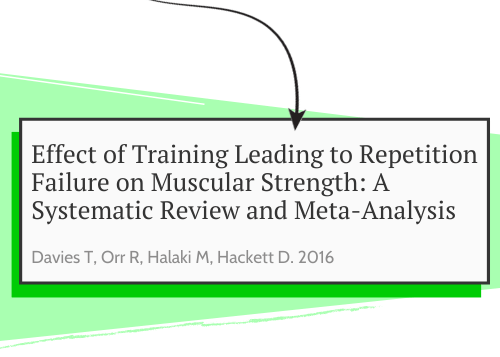 This picture shows the study who looked at training to failure