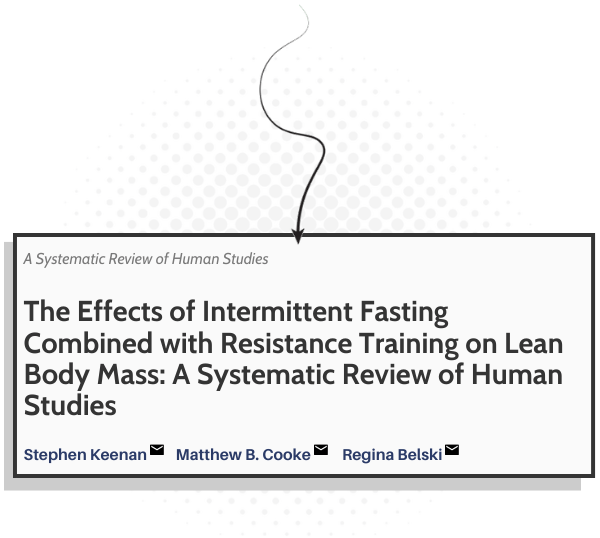 The study on intermittent fasting effect on muscle loss