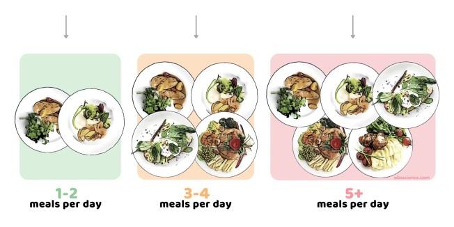 Brad Jon Schoenfeld, Alan Albert Aragon, James W. Krieger study on meal frequency and weight loss. Study groups.