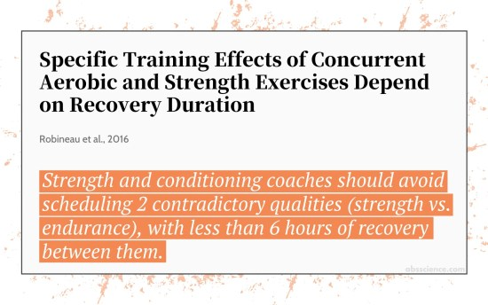 Specific Training Effects of Concurrent Aerobic and Strength Exercises Depend on Recovery Duration
