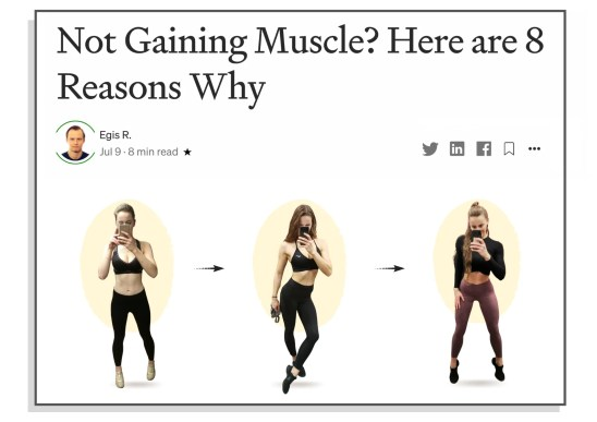 8 reasons why you're not gaining muscle article