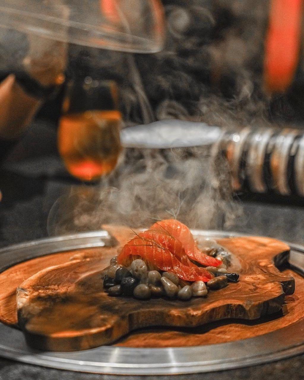 ora king salmon smoked absteak la by chef akira back