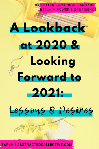 Looking back and reflecting on 2020 and looking forward to a brand new year in 2021