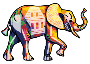 abstract elephant logo