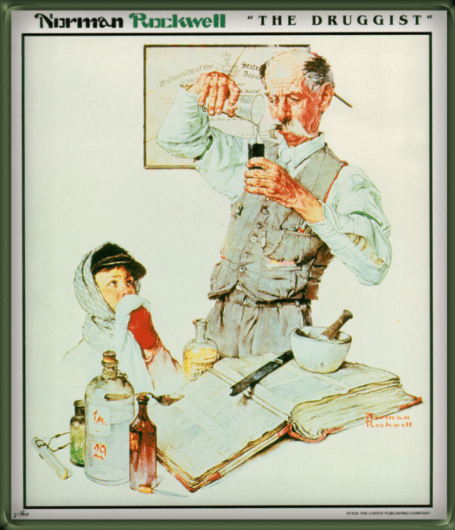 """""""The Druggist,"""" by Norman Rockwell"""