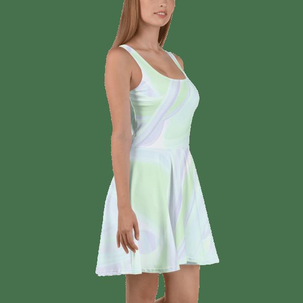 all over print skater dress white 5ff6f3baea057