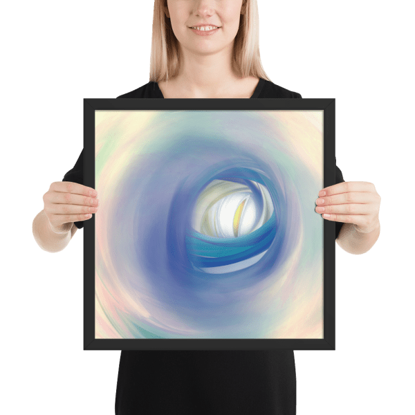 enhanced matte paper framed poster in black 16x16 person 602cd8e86b799