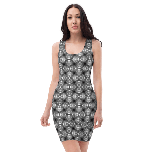 all over print dress white front 61038b933fb64