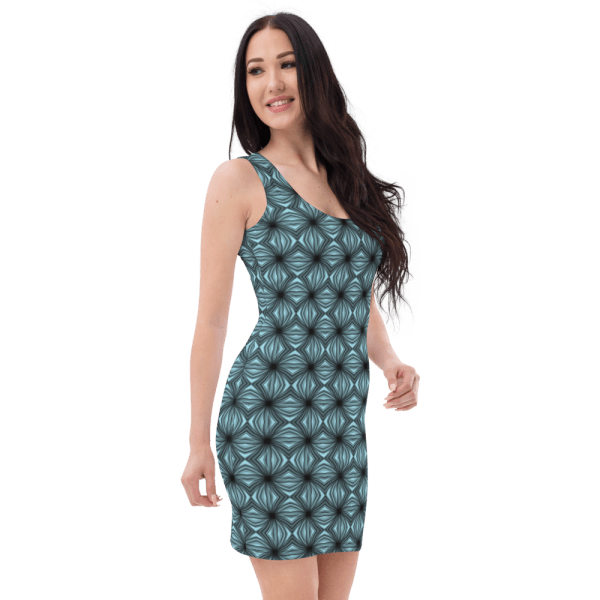 all over print dress white right front 61038c7040564