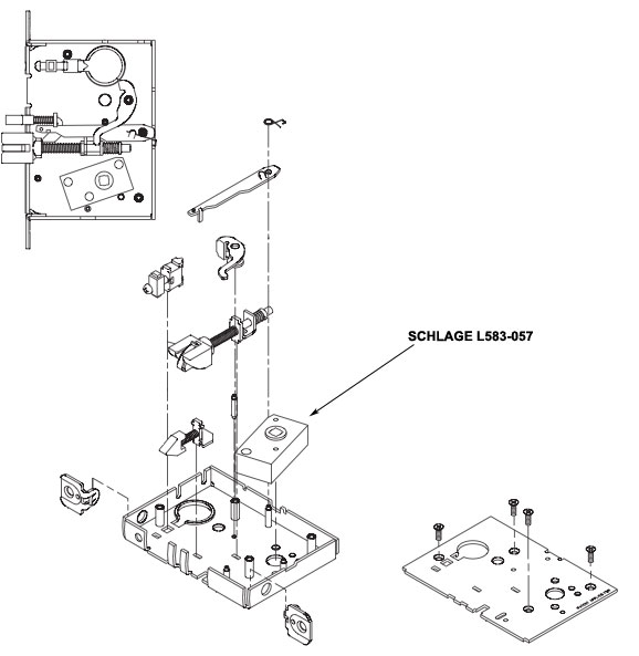 Schlage L583-057 Spindle Anchor