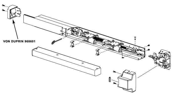 VON DUPRIN 968601 22 Mechanism Case End Cap Package of 1