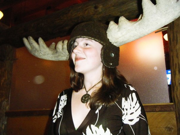 Absurdity Diana Wearing Moose Hat