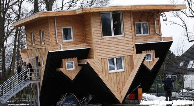 La casa al contrario nuova attrazione in germania - Casa al contrario ...