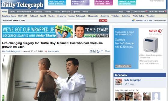Maimaiti Hali - Daily Telegraph