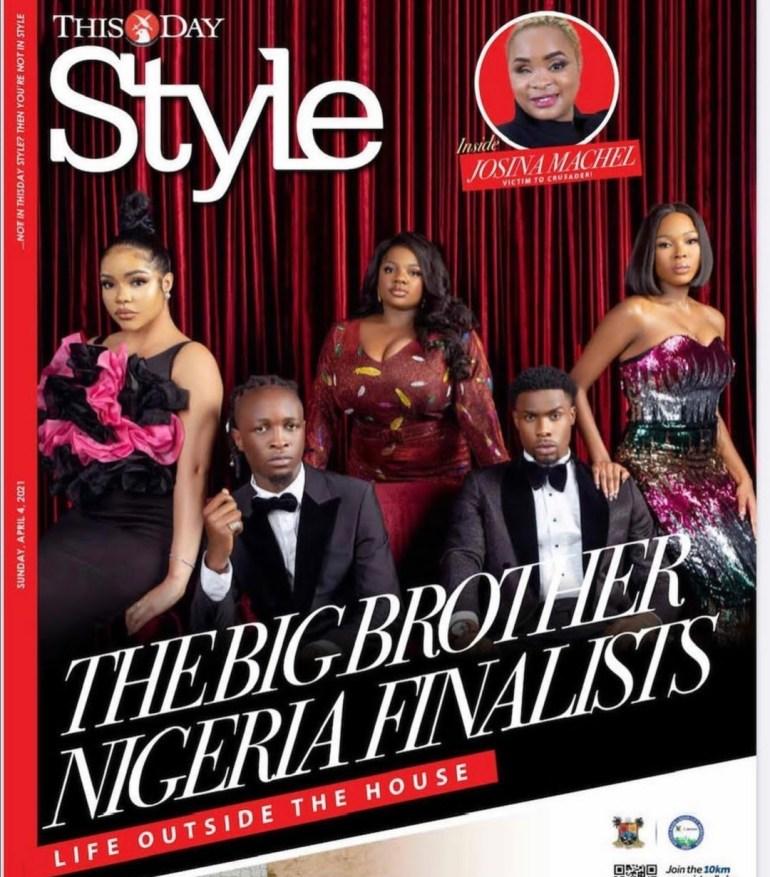 bbnaija finalist thisday magazine