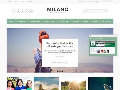 Milano Personal Blogger Template