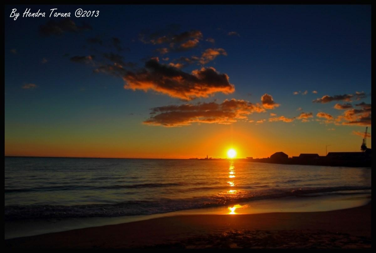 Sunset at Fremantle  Gloomy Sunset
