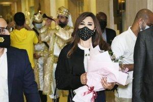 نجوى كرم لست مصابة Najwa Karam is not injured