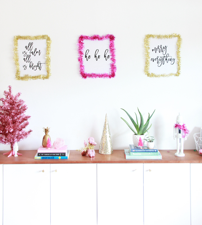 A Bubbly LifeDIY Holiday Poster Print Decorating! - A Bubbly ...
