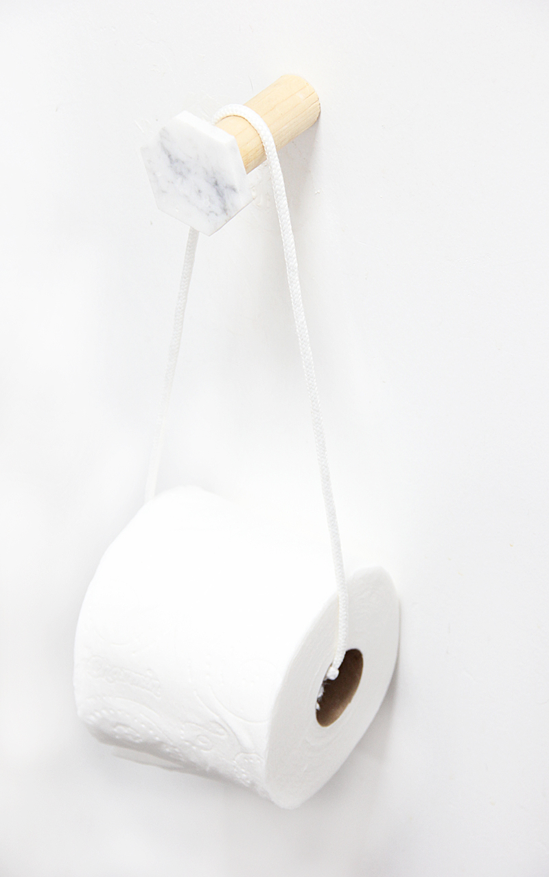 A Bubbly Lifediy Marble Amp Wood Toilet Paper Holder A