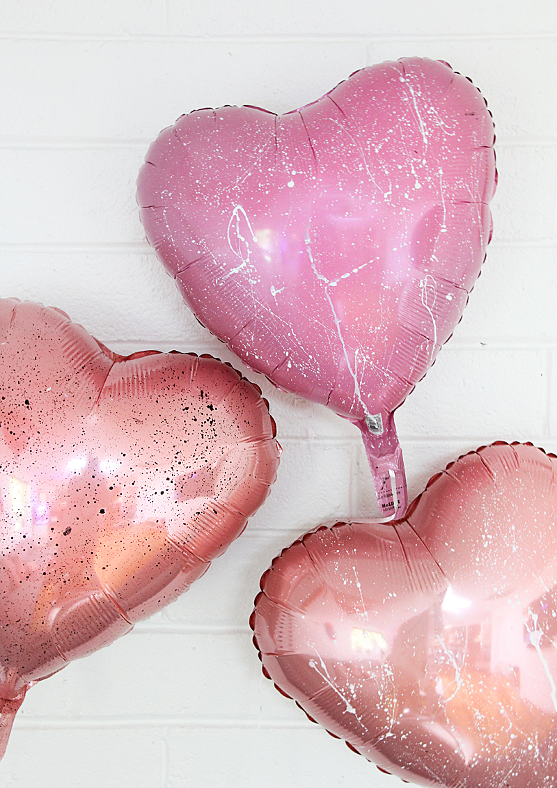 pink heart balloons for valentine's day