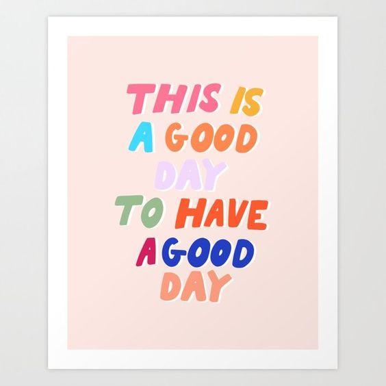 good day print