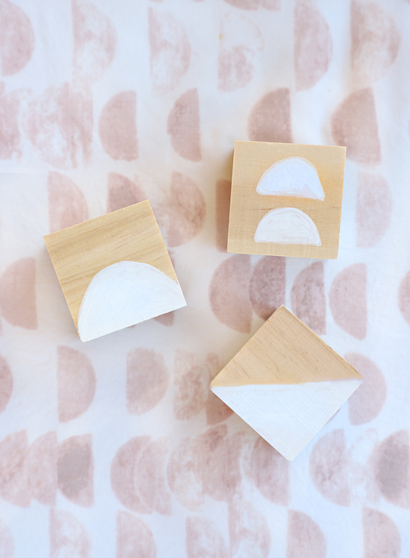 painted wooden baby blocks