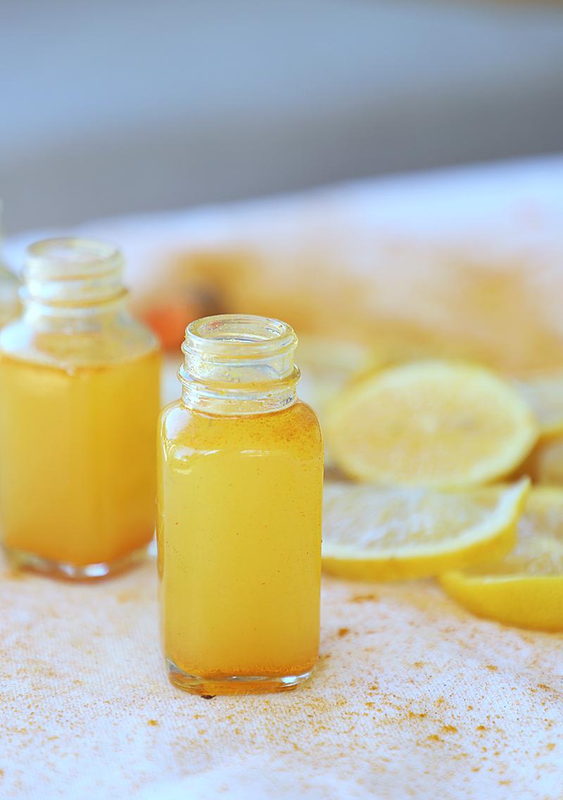 ginger turmeric shots