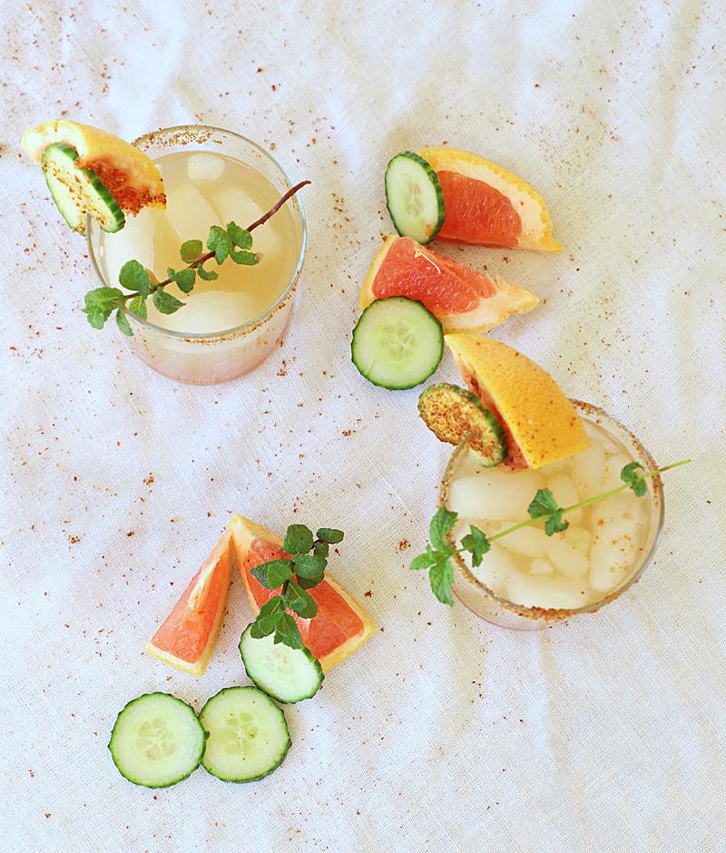 tequila grapefruit cucumber cocktail