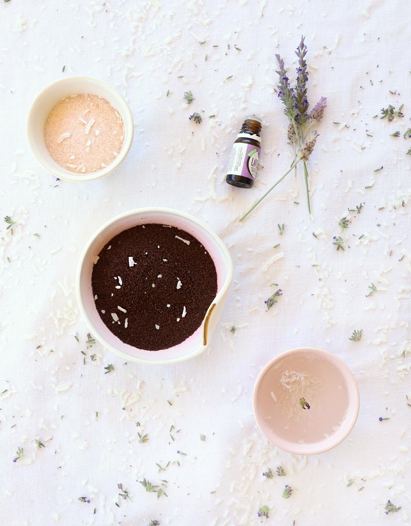 coffee coconut cellulite scrub