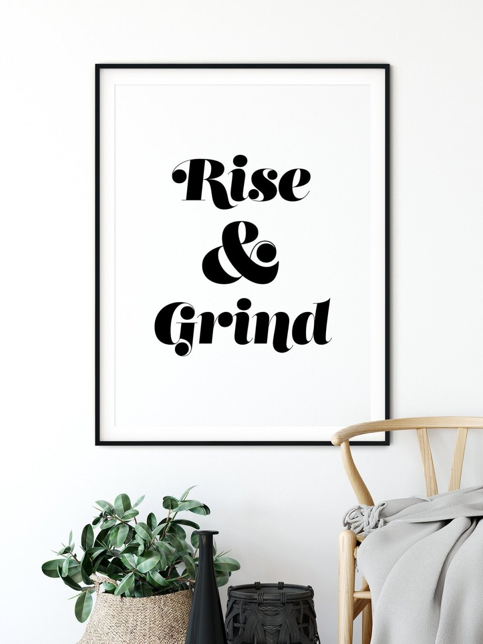 rise and grind art printable