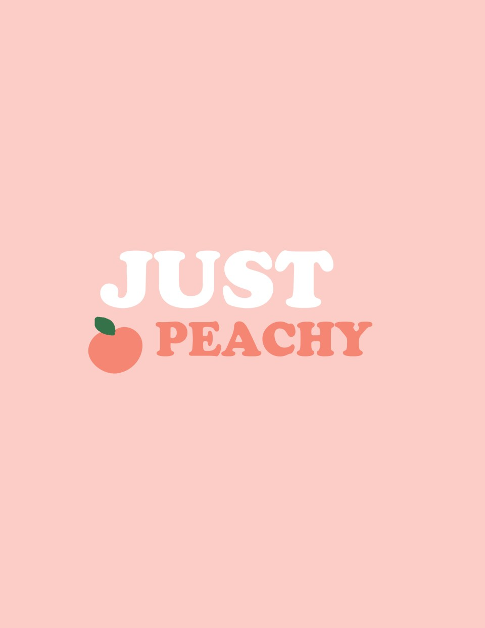 just peachy print