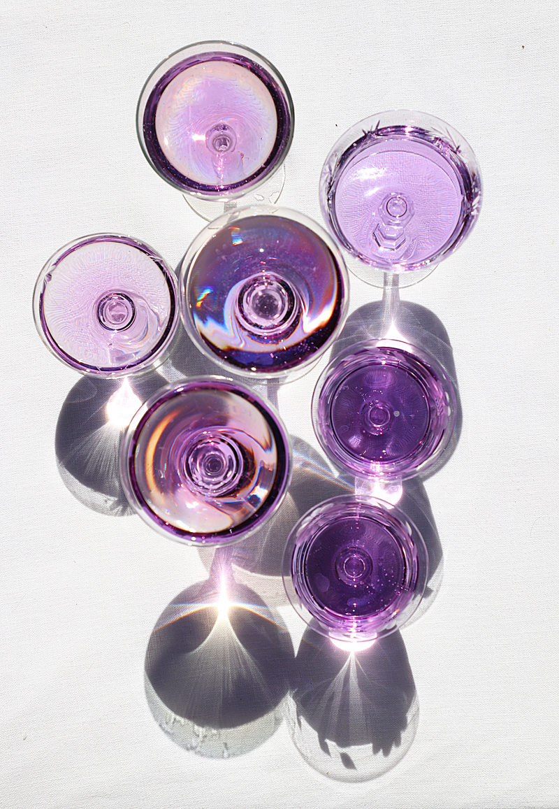 purple sparkling wine cocktails