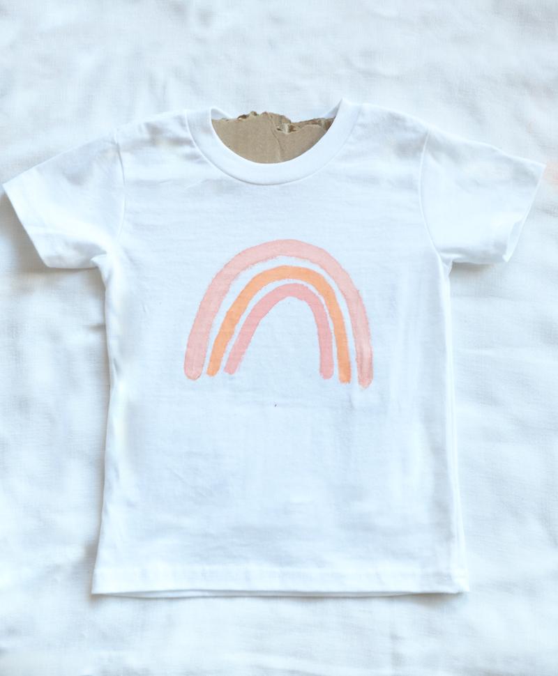 how to make a boho rainbow t-shirt