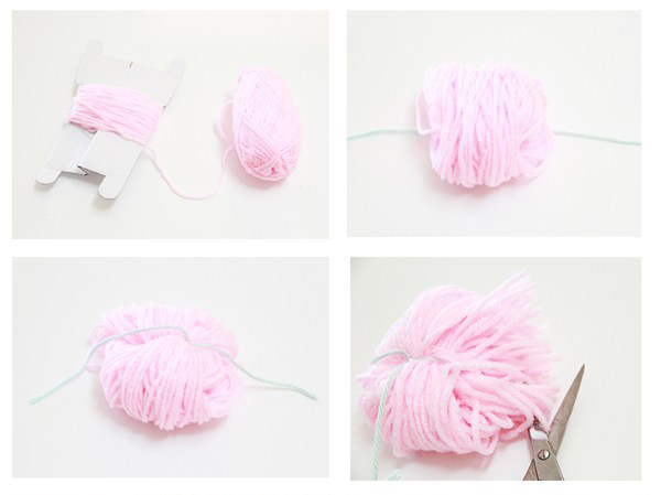 steps to make a yarn pom pom