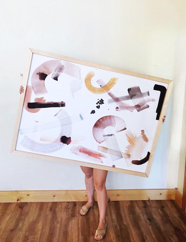 how to frame oversized art