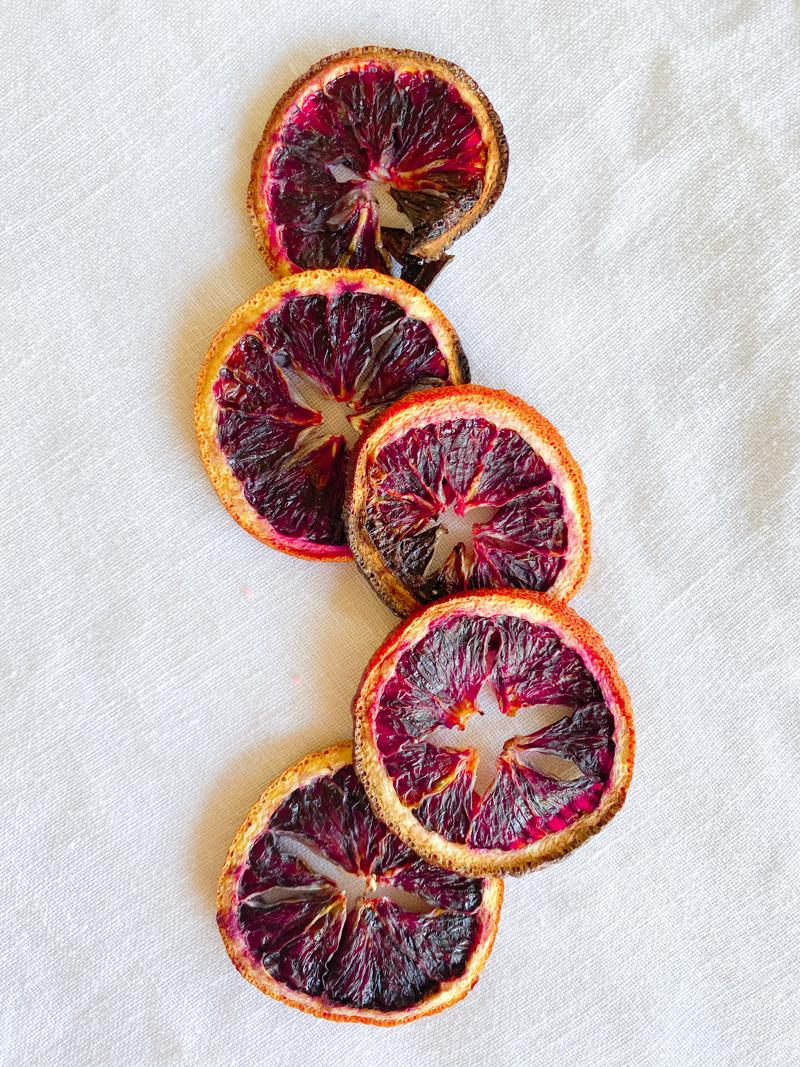 blood orange citrus dried out