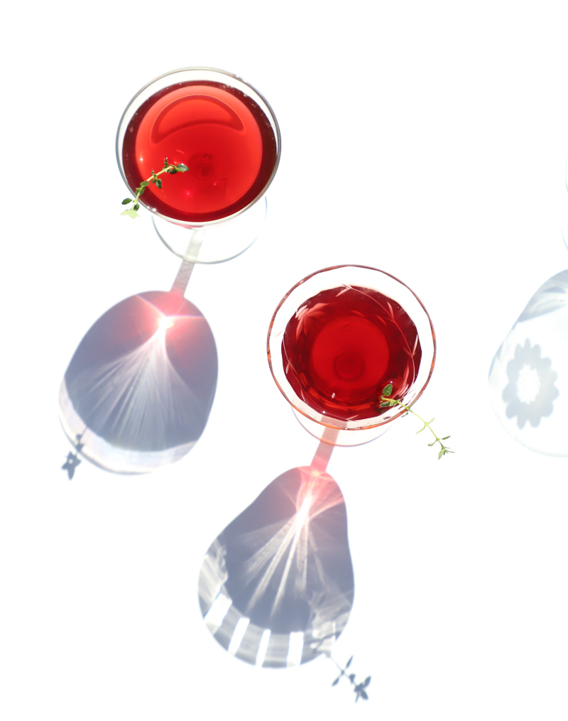 pomegranate mezcal martini