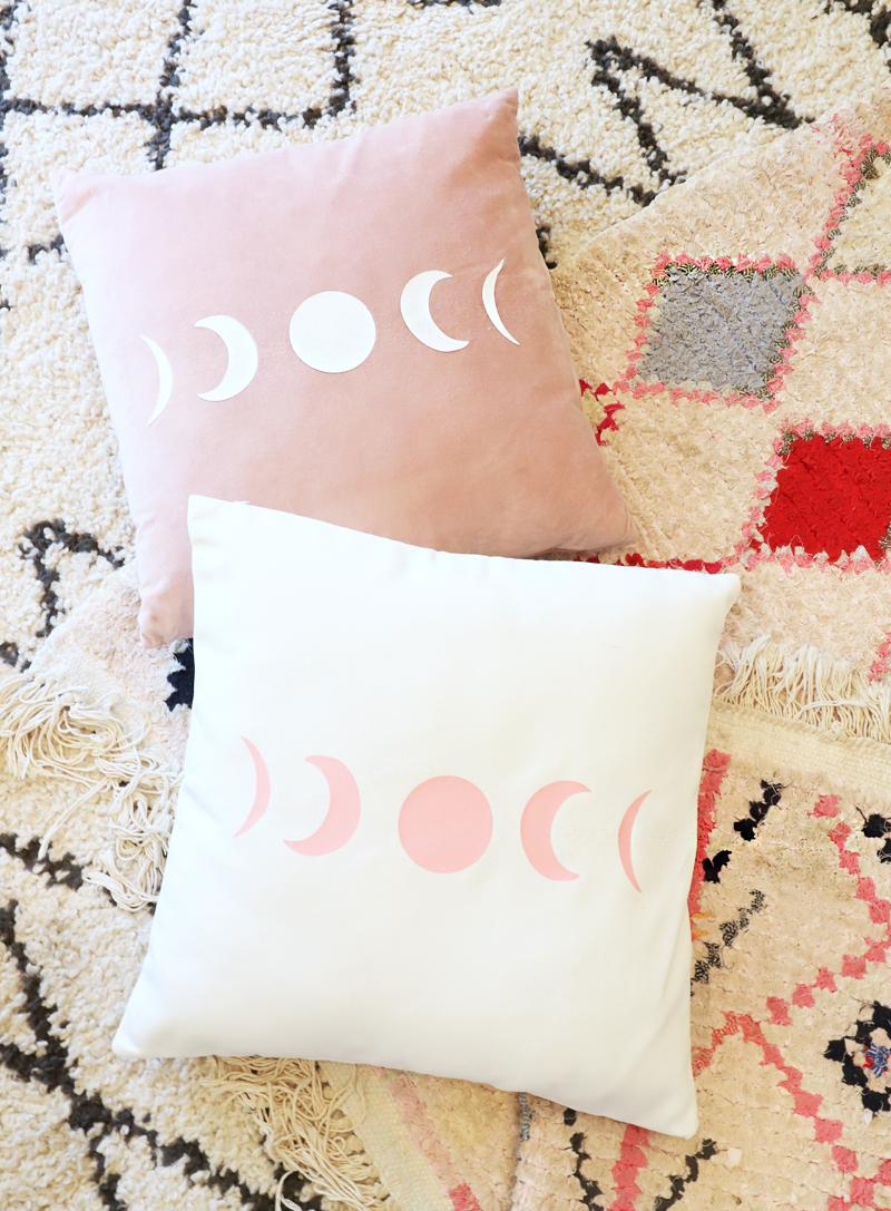 moon phase pillows