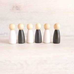 6 Figuras de madera para bebé